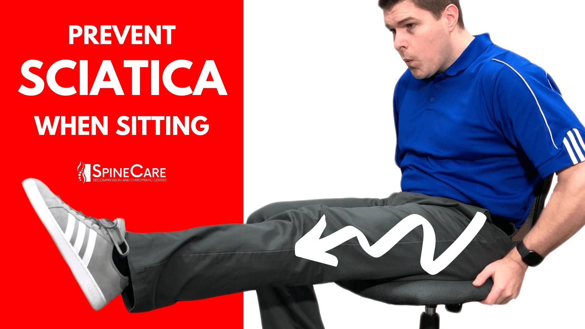 How to Prevent Sciatica Pain When Sitting | St. Joseph, MI Chiropractor | SpineCare