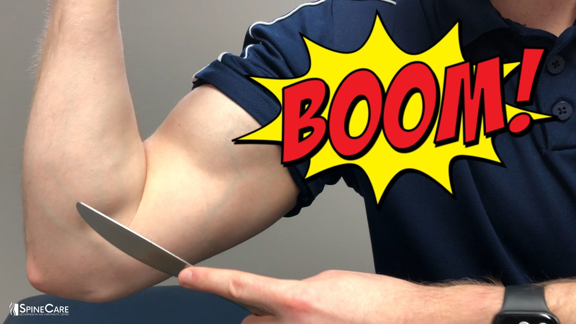 Fast Elbow Pain Relief Fix (Using Just a BUTTER KNIFE!) | SpineCare St. Joseph, MI Chiropractor