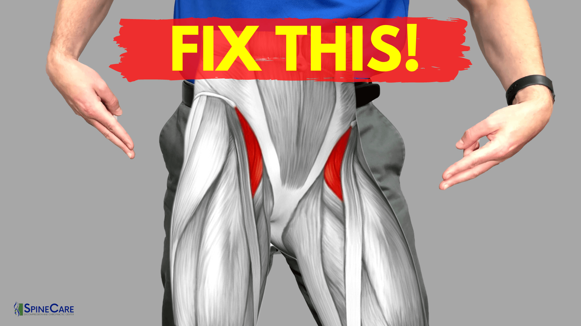 How to Relieve Hip Flexor Pain in 30 SECONDS | SpineCare | St. Joseph, Michigan Chiropractor