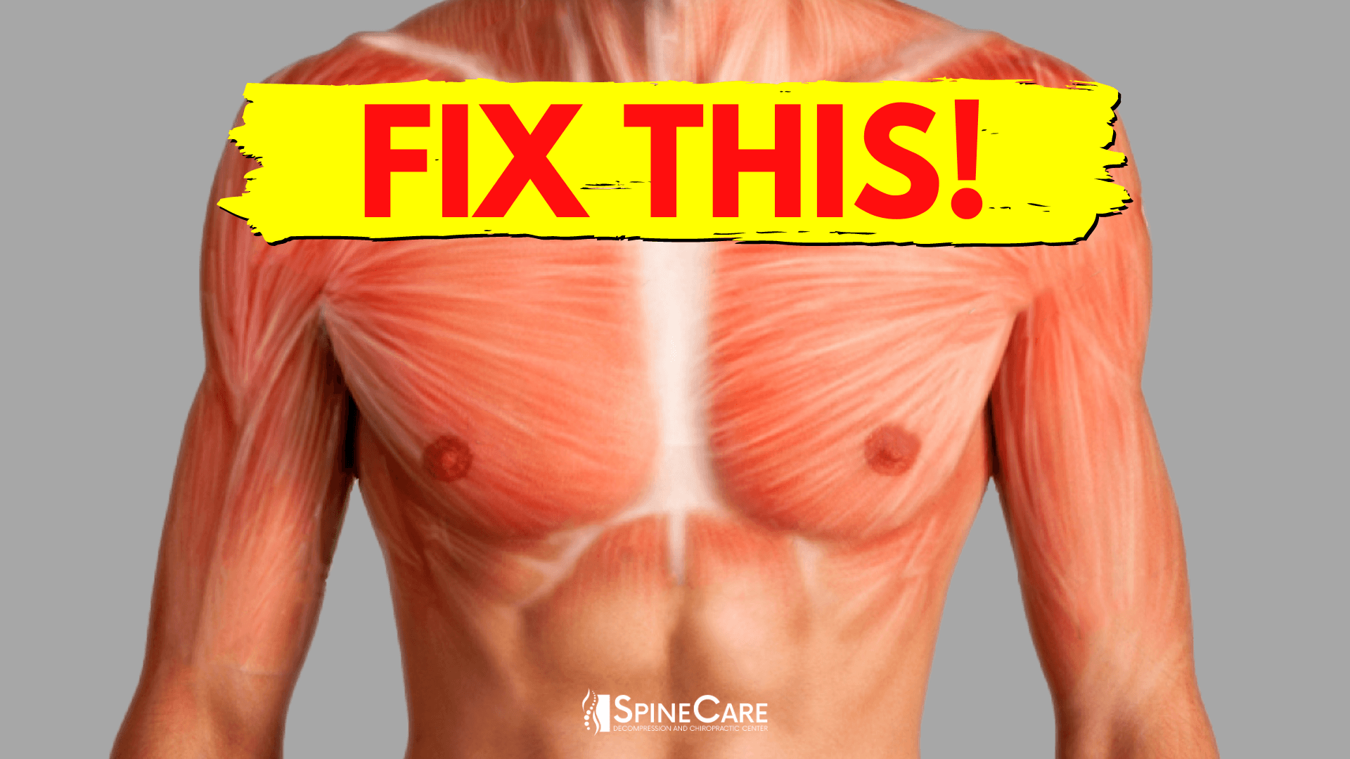 How to Fix Chest Muscle Tightness in 30 SECONDS   SpineCare   St. Joseph, Michigan Chiropractor